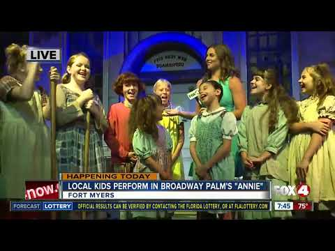 Broadway Palm cast performs 'Annie' The Musical - 7:30am live report