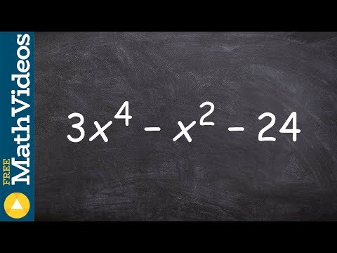 Factoring A Trinomial To The Fourth Power Using The Ac Method