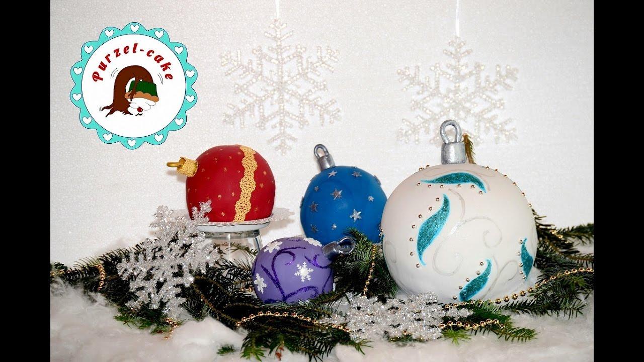 Christbaumkugeln Cremefarben.Christbaumkugeln Torte Weihnachtskugeln Motivtorten Von Purzel Cake