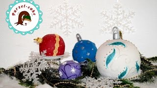 Christbaumkugeln Torte /Weihnachtskugeln/Motivtorten/von Purzel-cake
