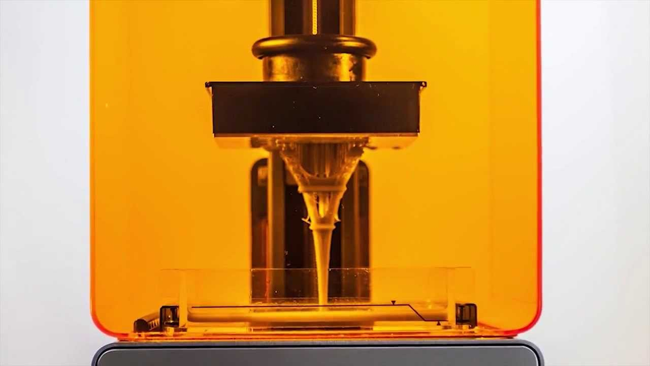 Formlabs Form1 3D Printer in Action - Eiffel Tower timelapse ...