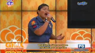 What Kind of Fool Am I (Regine Velasquez) - Singing Police Officer  Cover on Good Morning Kuya
