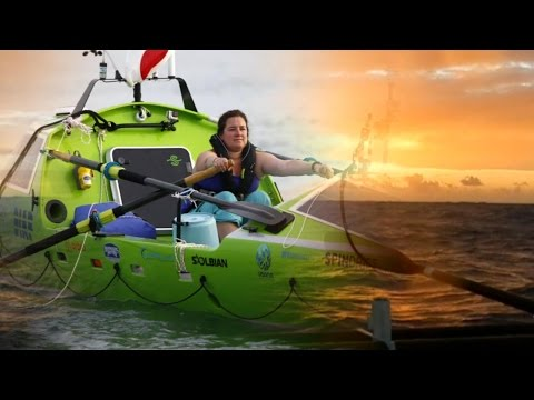 Inside a Woman's Bid to Be 1st to Row Across the Pacific Solo