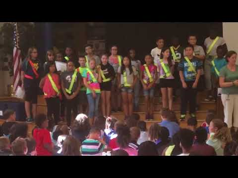 Orchard Grove Hall Patrol badge ceremony HD