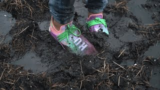 Jumping in mud with UNRELEASED adidas Human Race NMD Pharrell 'Holi Festival' - EXTREME CLEAN