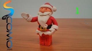 Hacer un Papa Noel de plastilina (1/3) - Plasticine santa