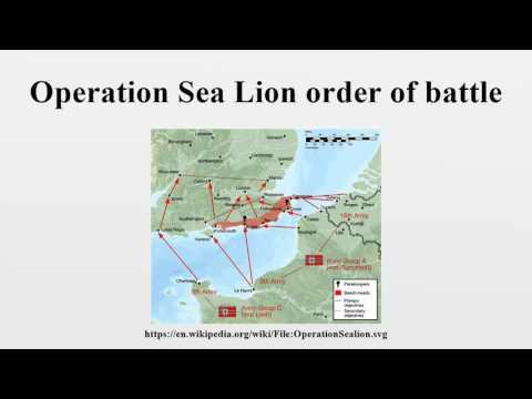 Operation Sea Lion order of battle  