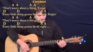 Three Little Birds (Bob Marley) Strum Guitar Cover Lesson with Chords/Lyrics