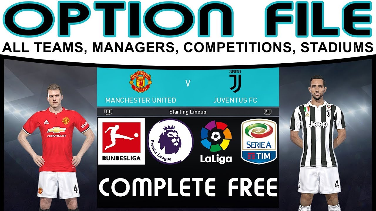 5d18a293c PES 2018 Option File for FREE PS4   PC Premier League