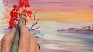 Как нарисовать «Осенний пейзаж» гуашью. Техника для начинающих.