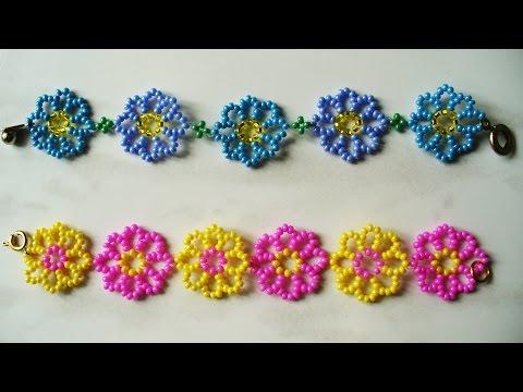 Браслеты из бисера схемы для детей браслеты
