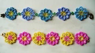 Детские браслеты из бисера видео