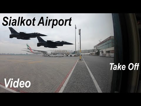 Sialkot Airport Flight Take Off - Samrial Wazirabad Road Gujrat SialAir Lines Qatar