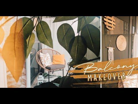 Extreme DIY Tiny Balcony Makeover! | Small balcony redesign on a budget!