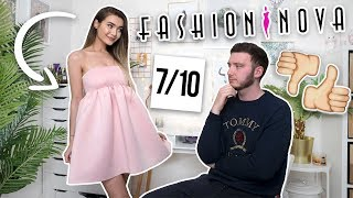 AD MY FIANCE RATES MY FASHION NOVA OUTFITS... HE'S SAVAGE!