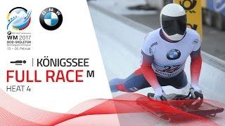 Full Race Men's Skeleton Heat 4 | KÖnigssee | BMW IBSF World Championships 2017