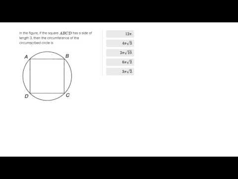6700 Calculating the circumference of the circumscribed circle