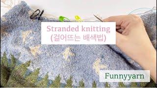 [가로배색]stranded knitting (걸어뜨기)