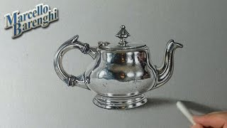 How I draw a realistic teapot