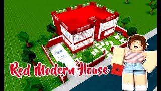 ROBLOX │Bloxburg - [Speed Build] Red Modern House