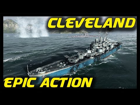 ► World of Warships Cleveland Gameplay: Epic Action - Cleveland is Awesome!
