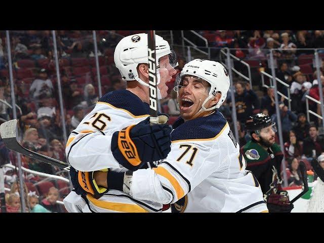 Rasmus Dahlin crashes the net to pot his first NHL goal