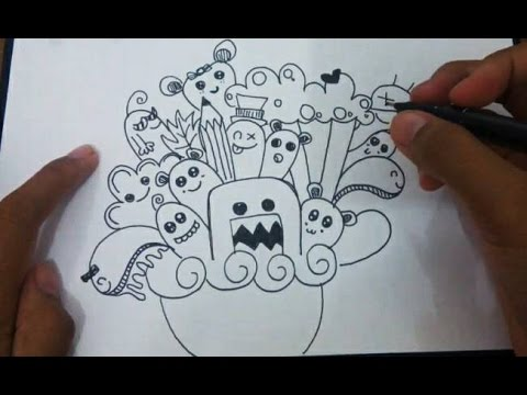 How to Doodle Doodle Art Tutorial  Cara Menggambar