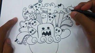 How to Doodle (Doodle Art Tutorial) - Menggambar Doodle
