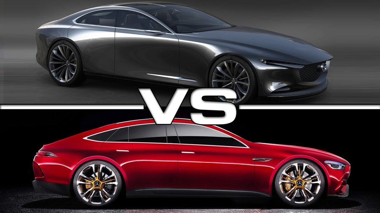 2018 Mazda Vision Coupe Vs 2018 Mercedes Amg Gt Youtube