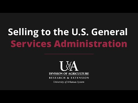 Selling To The U.S. General Services Administration (GSA)