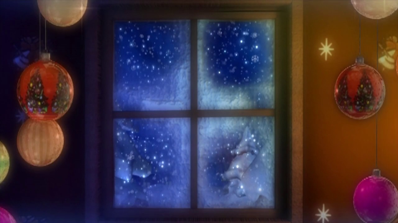 Christmas Snowy Weather Through The Window Hd Relaxing