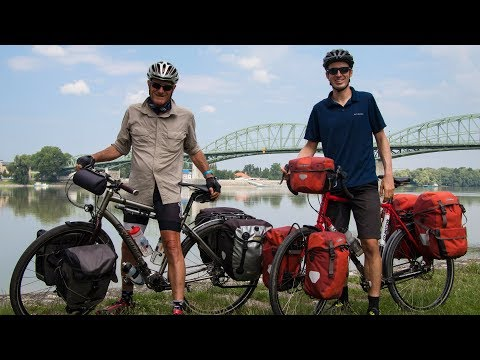 Crossing the Border of Hungary and Slovakia - Bicycle Tourin