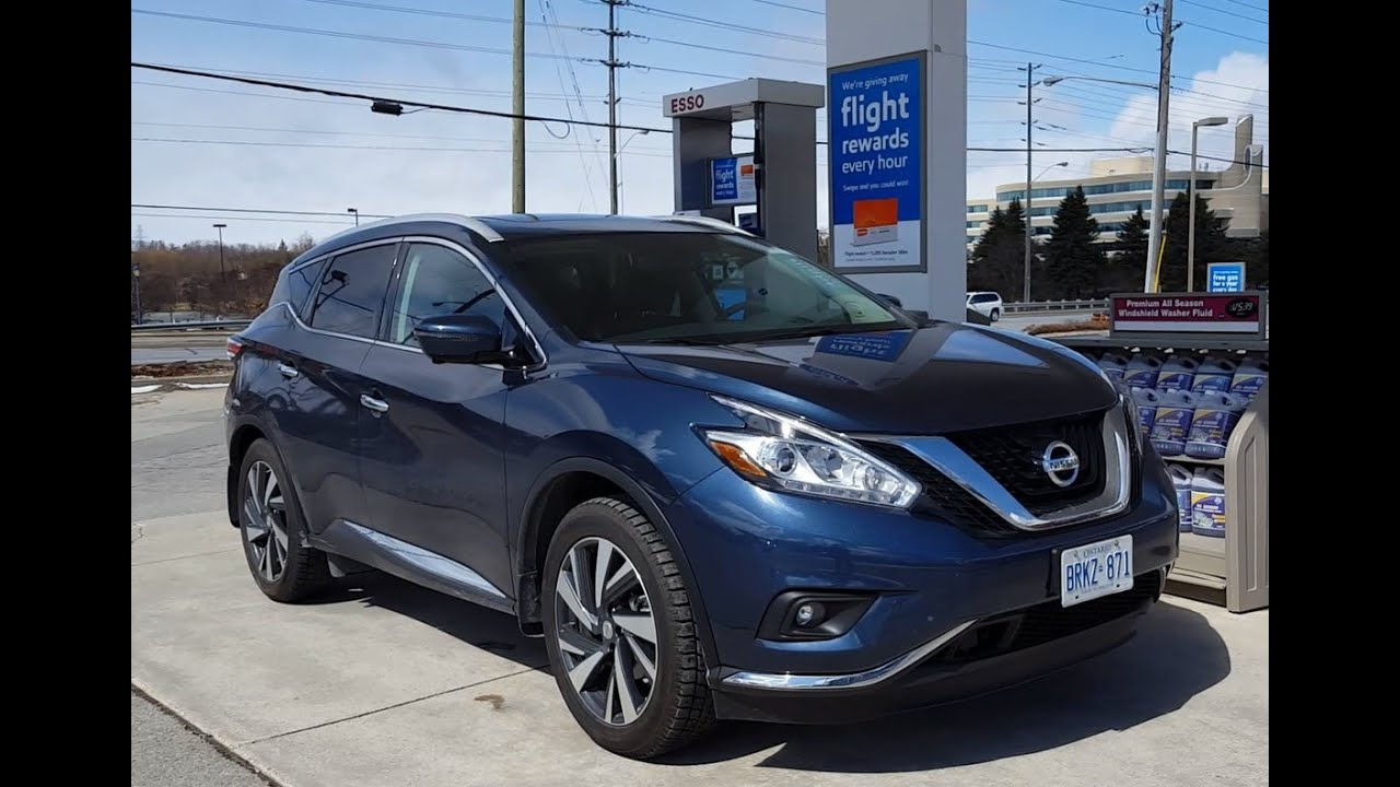 2017 nissan murano fuel economy review fill up costs youtube. Black Bedroom Furniture Sets. Home Design Ideas