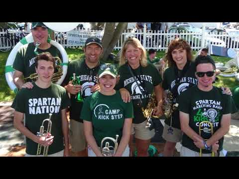 2017 Michigan State University Combined Alumni and Student Band - Pentwater Homecoming Days 2017