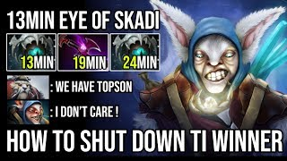 Fastest Skadi Ever - Russian Meepo Spammer Destroy TI Winner With Crazy Farming Speed Epic Dota 2