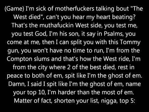 Game - The City ft. Kendrick Lamar (Lyrics)