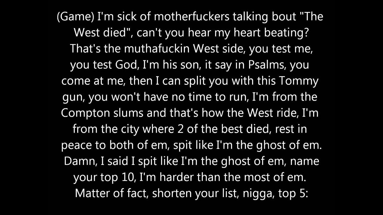 Game The City Ft Kendrick Lamar Lyrics Youtube