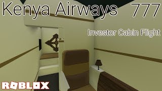 Roblox Airline Review: Kenya Airways - Cabine investisseurs - Boeing 777