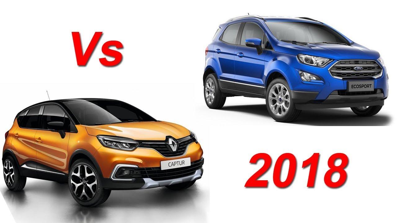 renault captur 2018 vs ford ecosport 2018 comparison vehicles and cars youtube. Black Bedroom Furniture Sets. Home Design Ideas