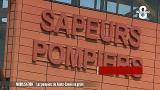 Les pompiers de Haute-Savoie en grève
