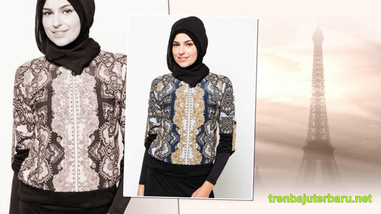 33 Tren Model Baju Batik Muslim Wanita Terbaru 2016 - YouTube 5a6c97cbfb