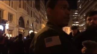 Black Trump Supporter Attempts Civil Discourse with anti-Trump Protesters