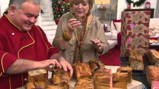 Ship Week 12/8 Strawberry Hill (4) 2.5 Lb. Holiday Bread With Gift Boxes With Carolyn Gracie