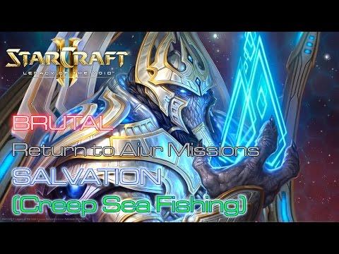 Starcraft II: Legacy of the Void - Brutal - Aiur - Mission 19: Salvation A (Creep Sea Fishing)