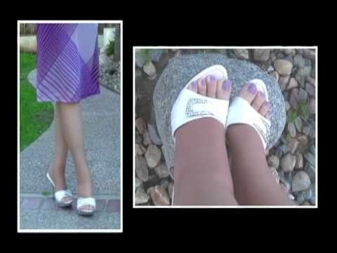 Wearing Toeless Pantyhose in High Heeled Open Toe Shoes -Vớ Da from YouTube · Duration:  1 minutes 56 seconds