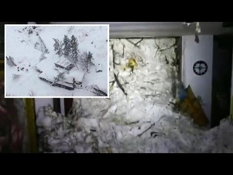 Rescuers Search for Italy Hotel Avalanche...