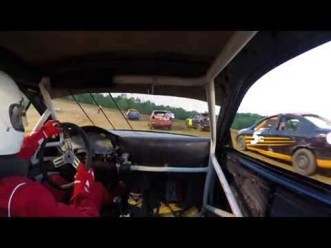 Dog Hollow Speedway 5/30/14 Four cylinder heat race.