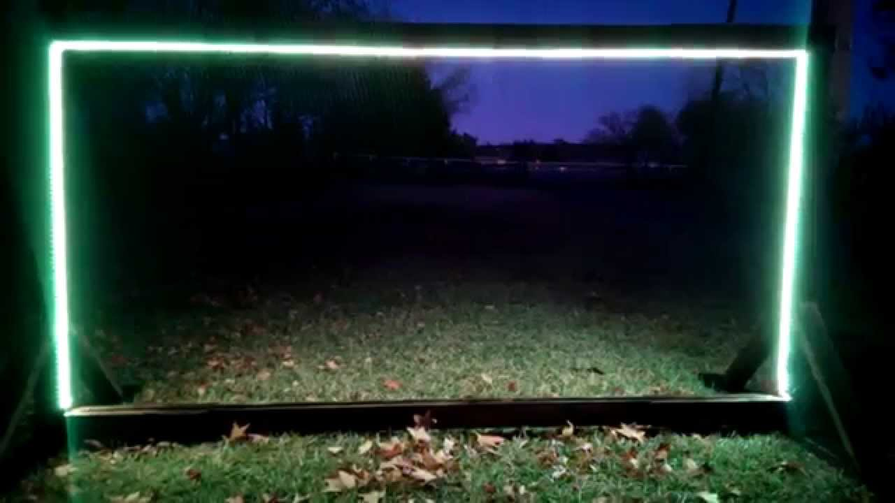 4x8 Sign Frame with LED Multi Color Lights & Solar power - YouTube