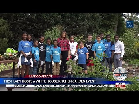 FIRST LADY MELANIA TRUMP Hosts a WHITE HOUSE Kitchen Garden Event 9/22/17
