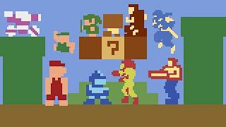 Super Mario Bros. 1 (ATARI) - All New Characters | Super Mario Crossover 3.0. ᴴᴰ